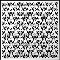 Floral Screen Ornamental 6x6 by Gwen Lafleur