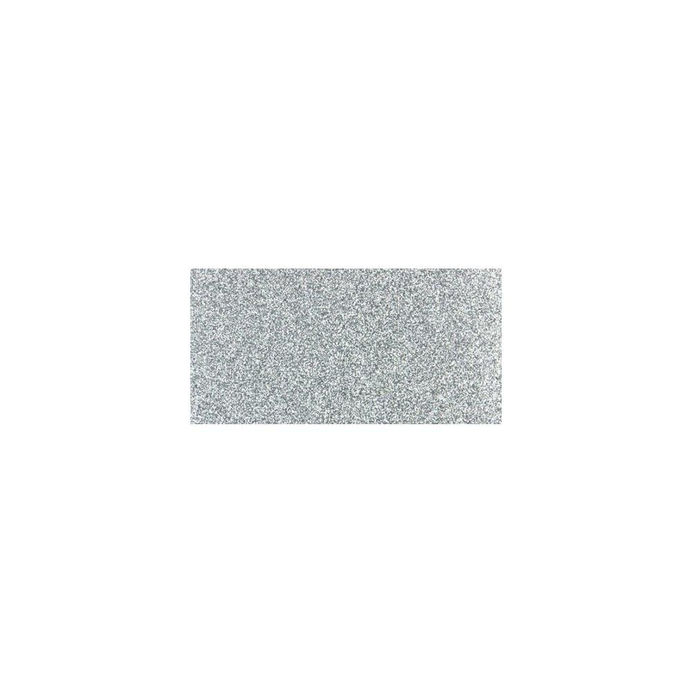 Non-Shed Glitter Cardstock 12X12  Silver 1 sheet