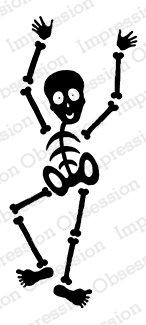 New! IO Rubber Stamp -Skeleton 1