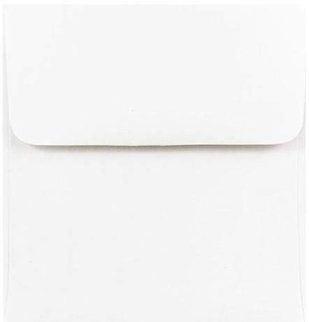 Envelopes 5.5 x 5.5 Square White, Pack of 20