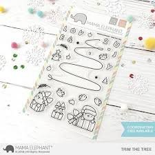 BUNDLE Trim the Tree Stamp and Die Set by Mama Elephant