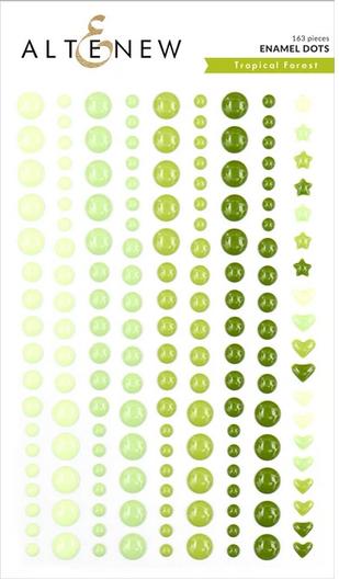 Enamel Dots Tropical Forest