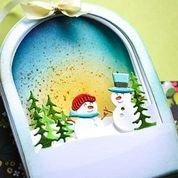 Memory Box Snowglobe Backer Die
