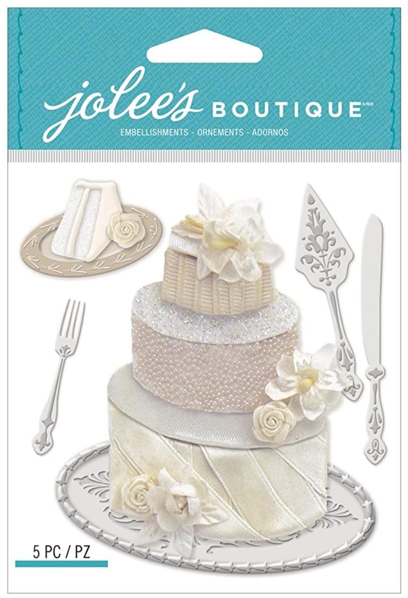 Wedding Cake 3D Sticker Jolee's Boutique