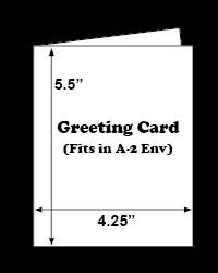 White & Cream Scored A-2 Greeting Cards