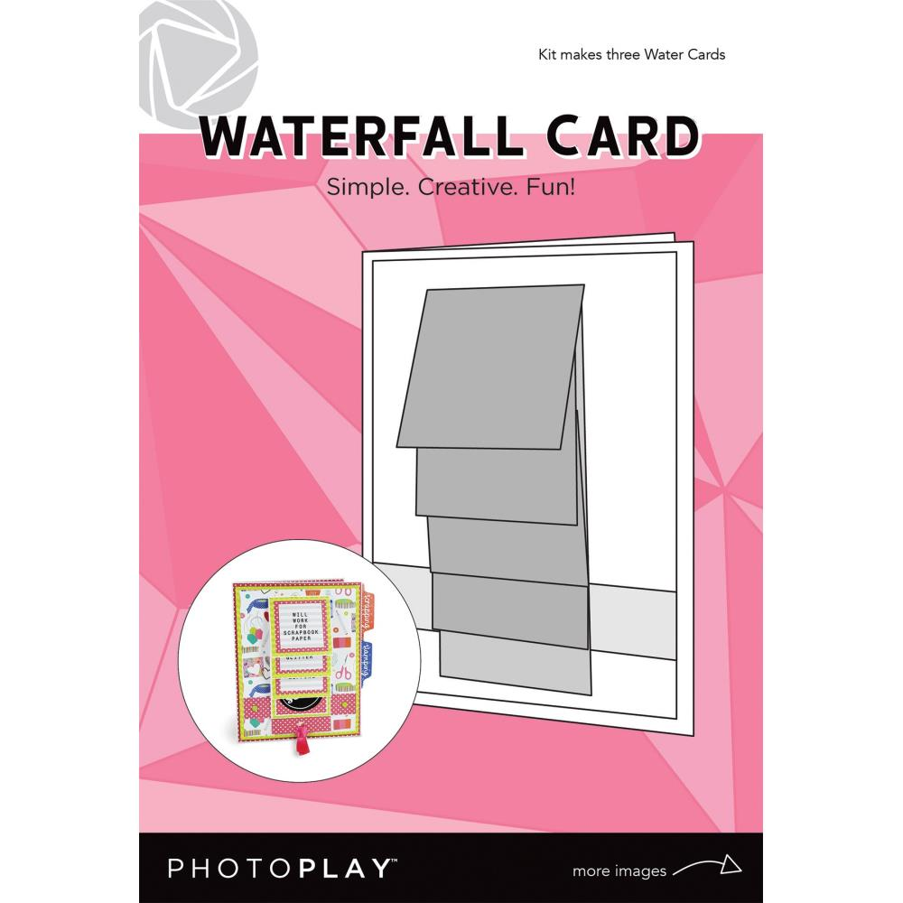Photoplay Waterfall Card 3/Pkg-Makes 3