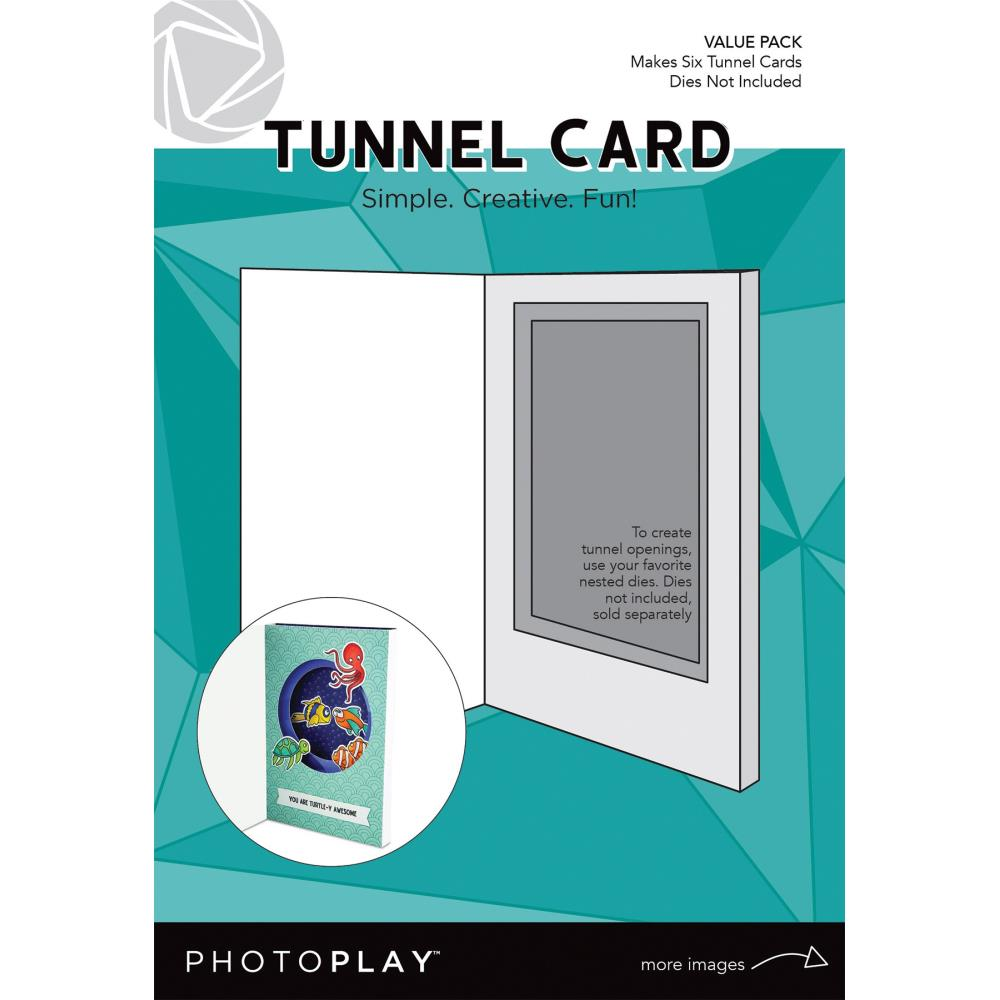 Photoplay Tunnel Cards 6/Pkg-Makes 6
