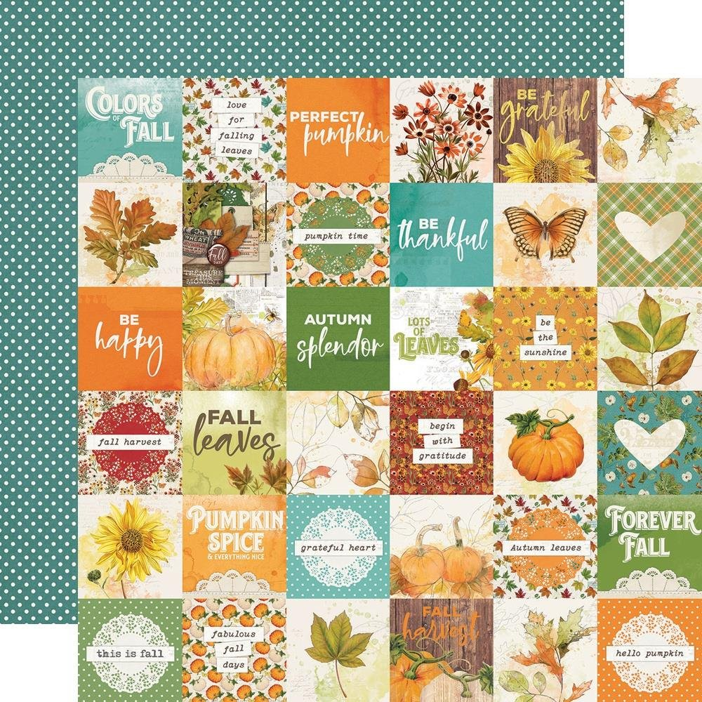 Autumn Splendor Double-Sided Cardstock 12X12-2X2 Elements