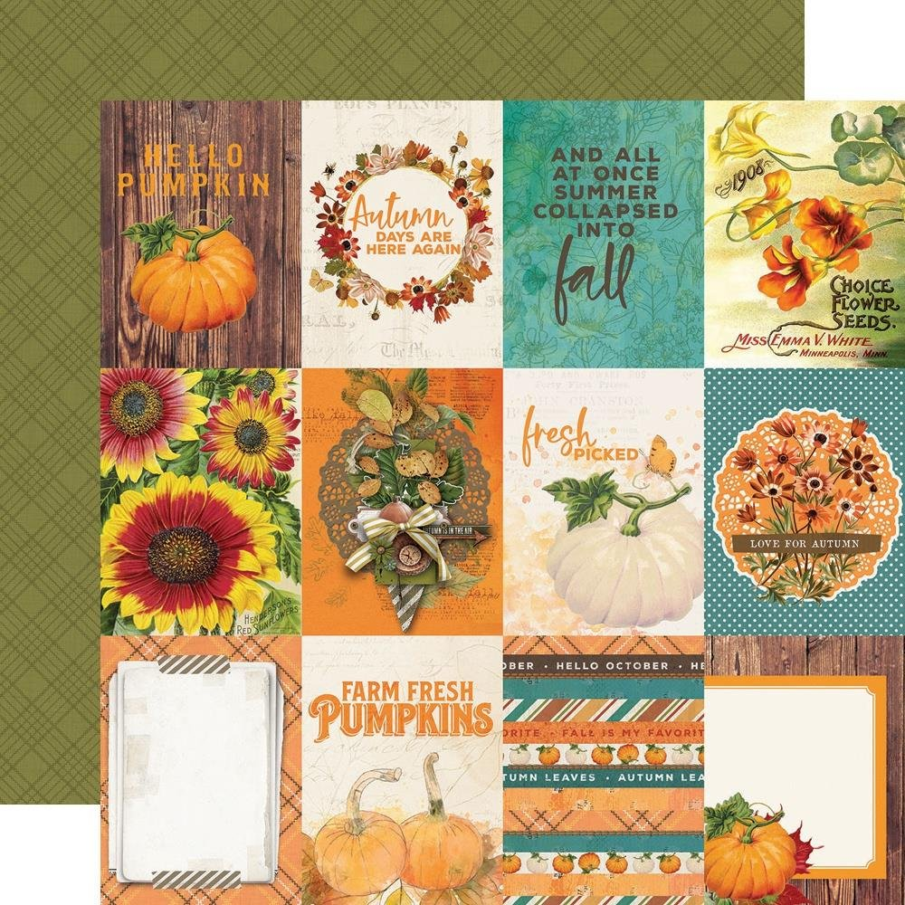 Autumn Splendor Double-Sided Cardstock 12X12-3X4 Elements