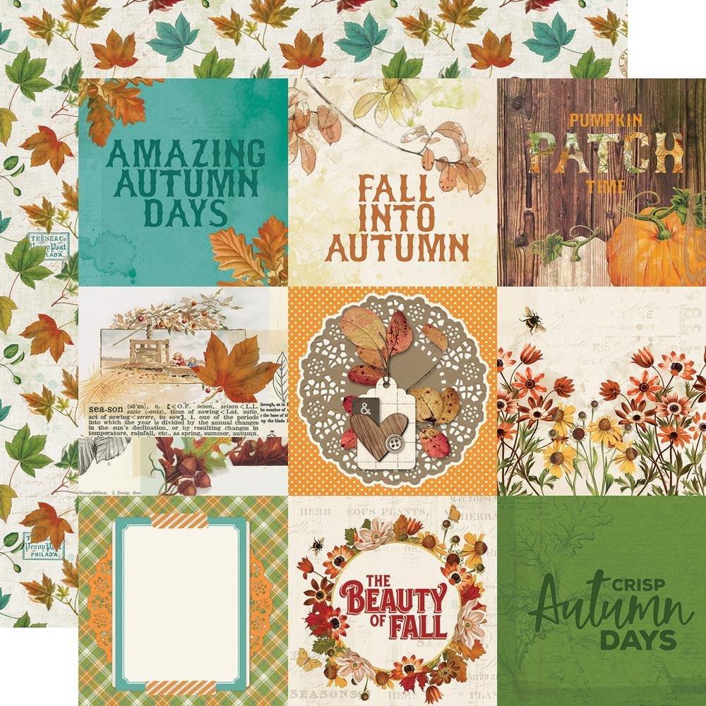 Autumn Splendor Double-Sided Cardstock 12X12-4X4 Elements