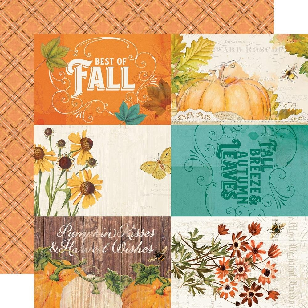 Autumn Splendor Double-Sided Cardstock 12X12-4X6 Elements