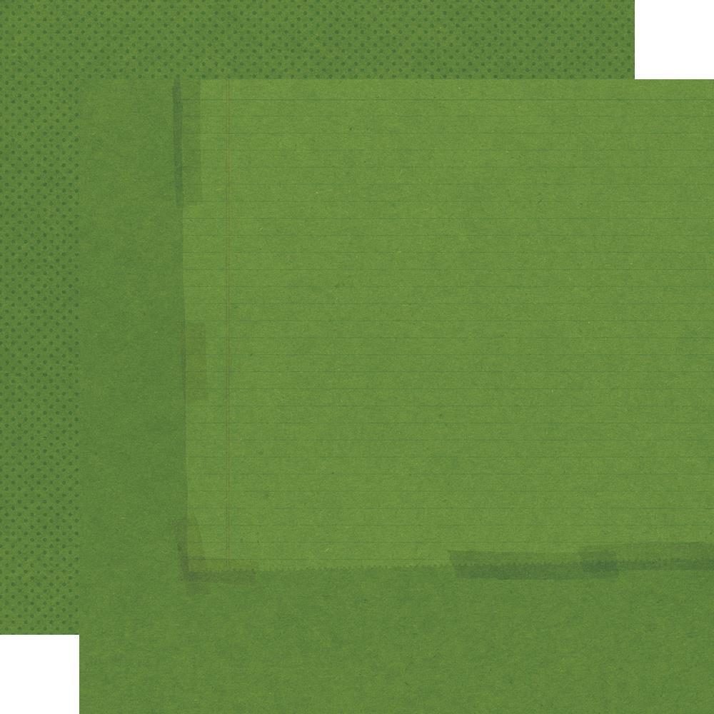 Autumn Splendor Double-Sided Cardstock 12X12-Moss/Dots Simple Basic