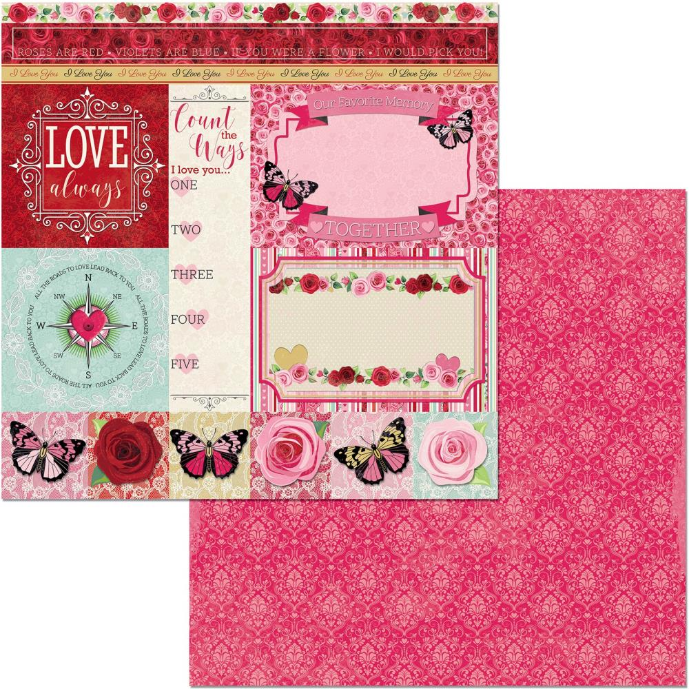 Count The Ways Double-Sided Cardstock 12X12-Count The Ways