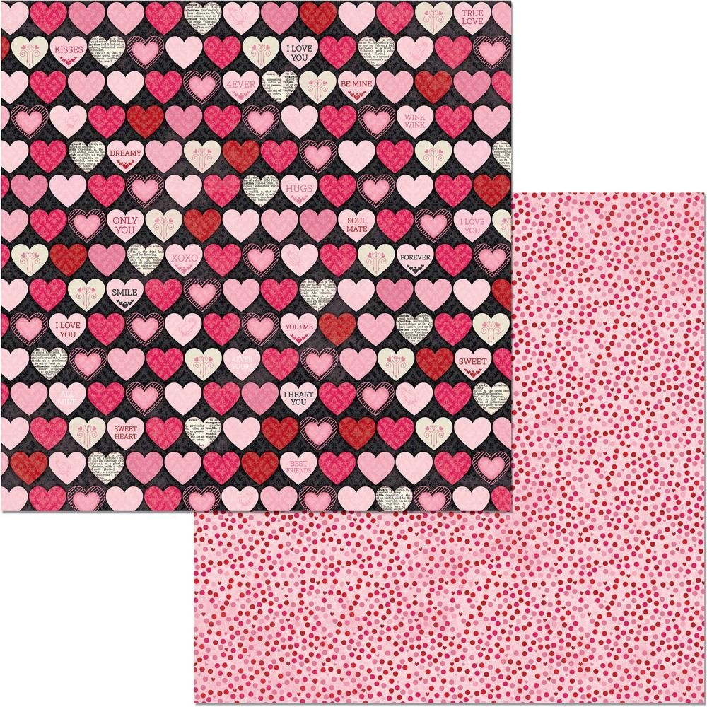 Count The Ways Double-Sided Cardstock 12X12-Hearts