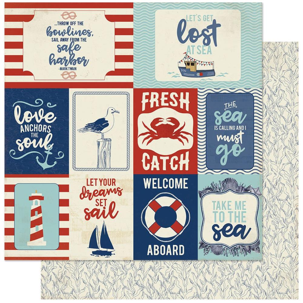 Voyage Double-Sided Cardstock 12X12-#12 Icons Cut-Aparts