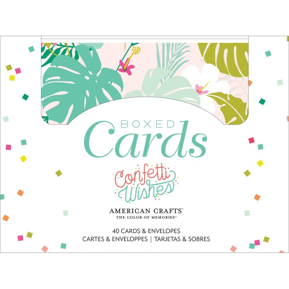 CONFETTI WISHES A2 CARDS & ENVELOPES