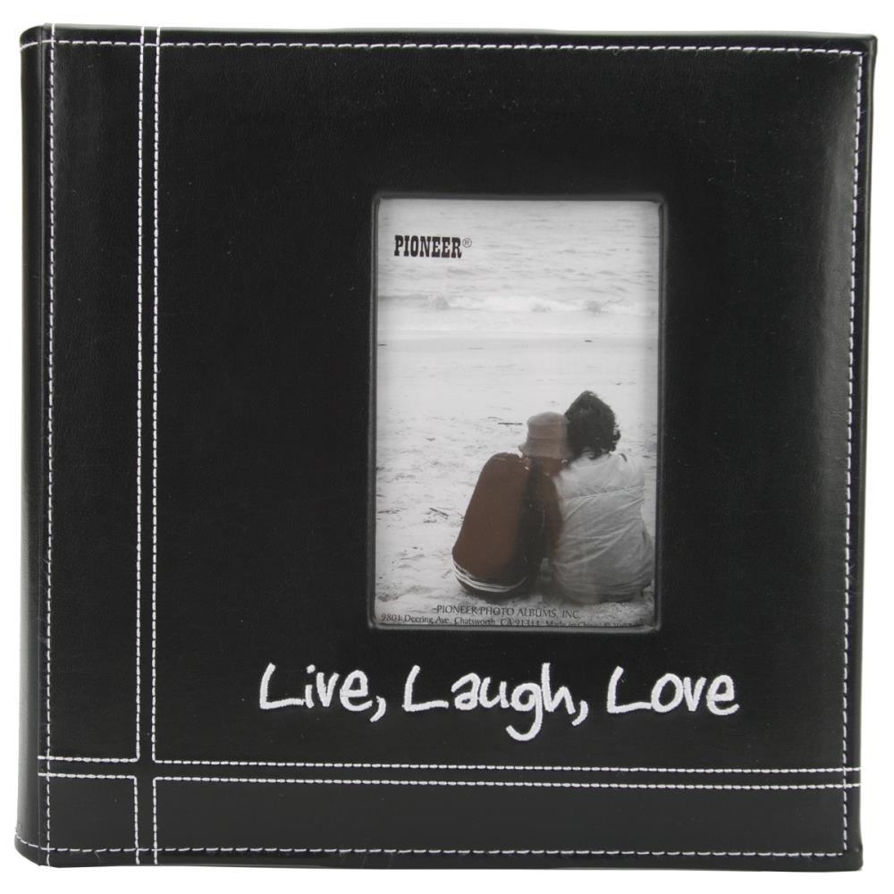 LIVE LAUGH LOVE STITCHED LEATHERETTE PHOTO ALBUM