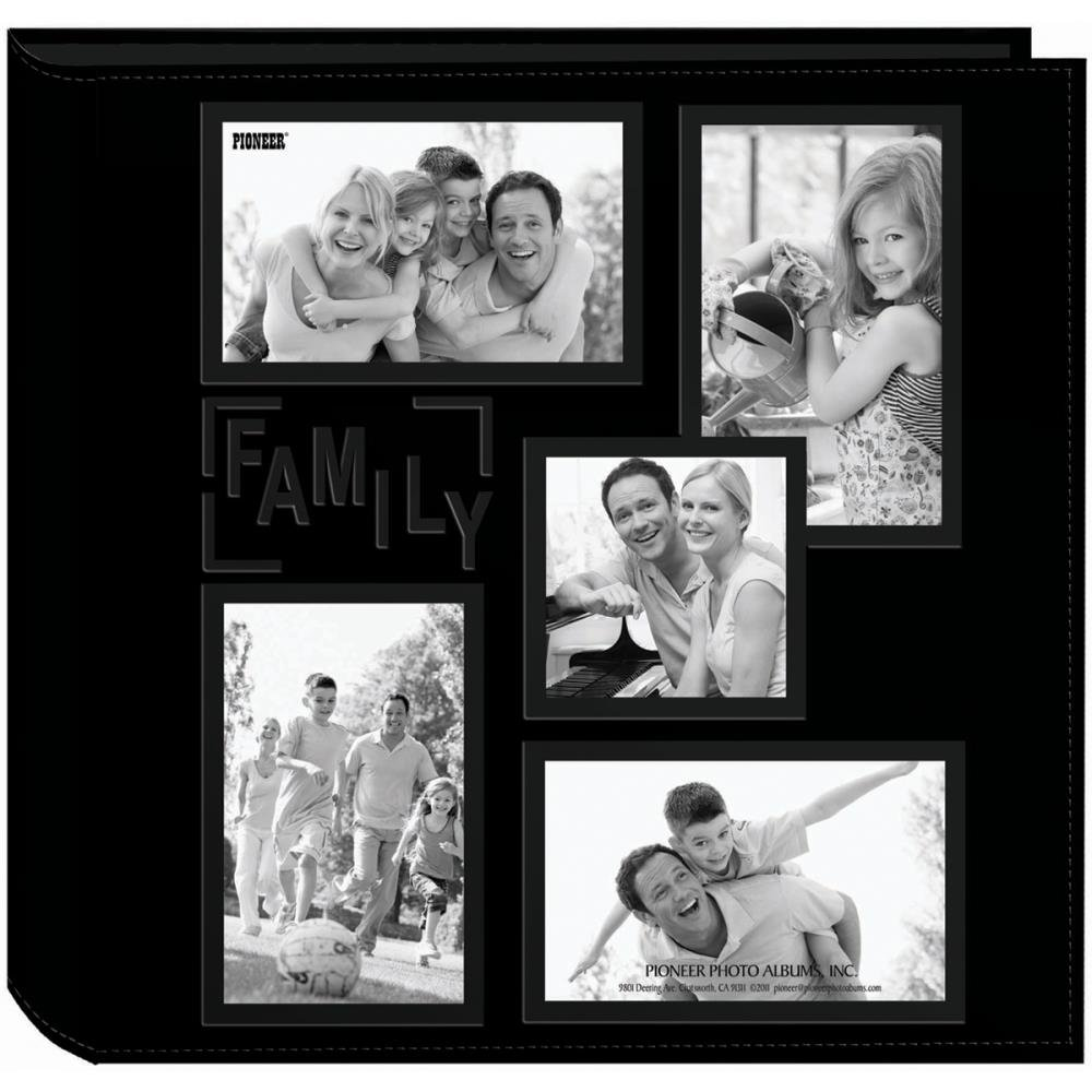 5-UP SEWN EMBOSSED COLLAGE FRAME PHOTO ALBUM 12X12