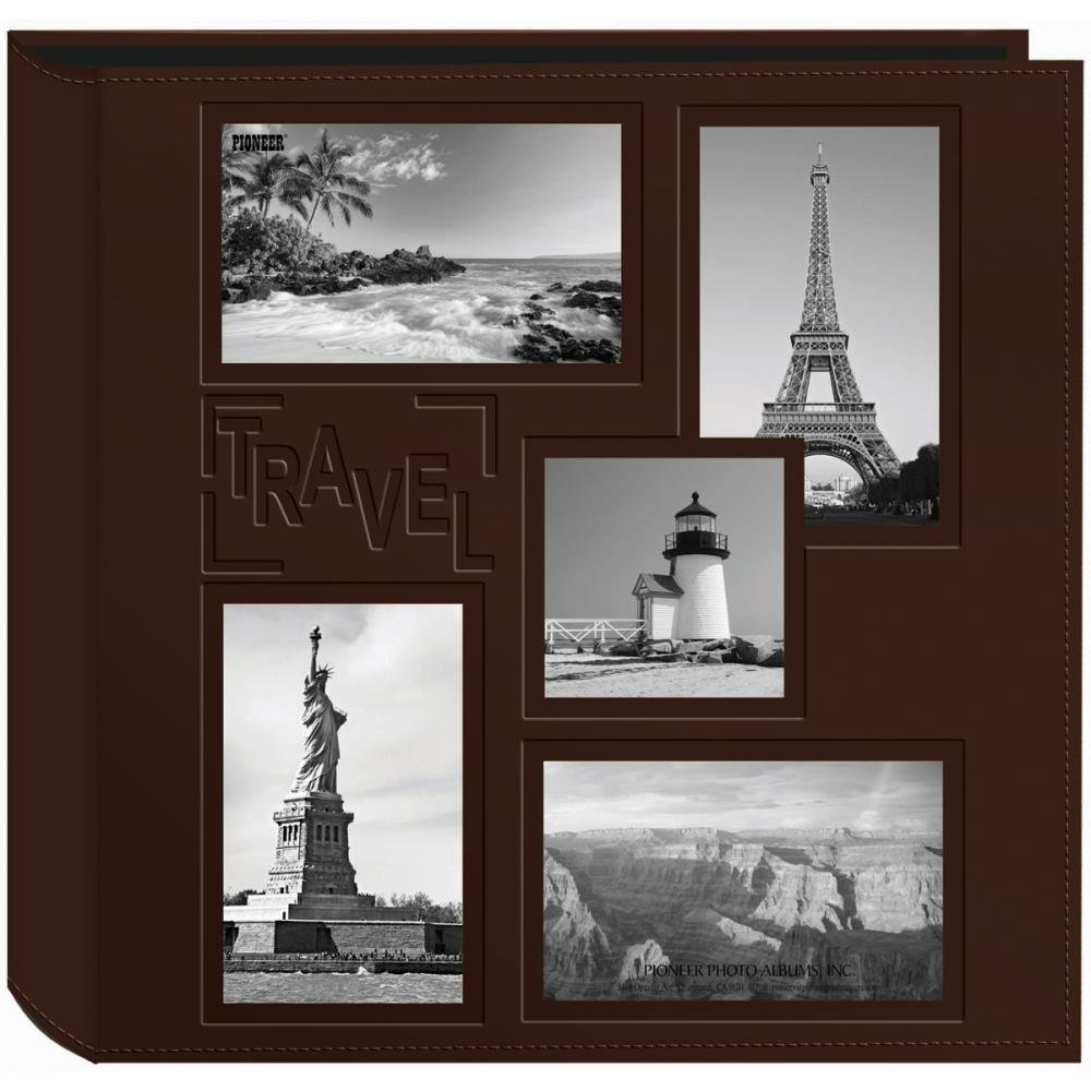 5-UP SEWN EMBOSSED COLLAGE FRAME PHOTO ALBUM 12X12 TRAVEL