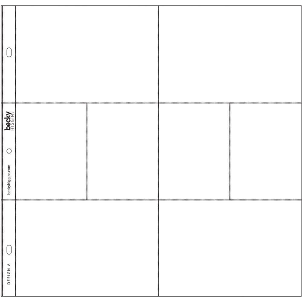 PHOTO POCKET PAGES DESIGN A 12/PKG