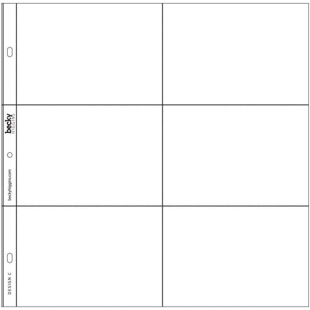PHOTO POCKET PAGES DESIGN C 12/PKG
