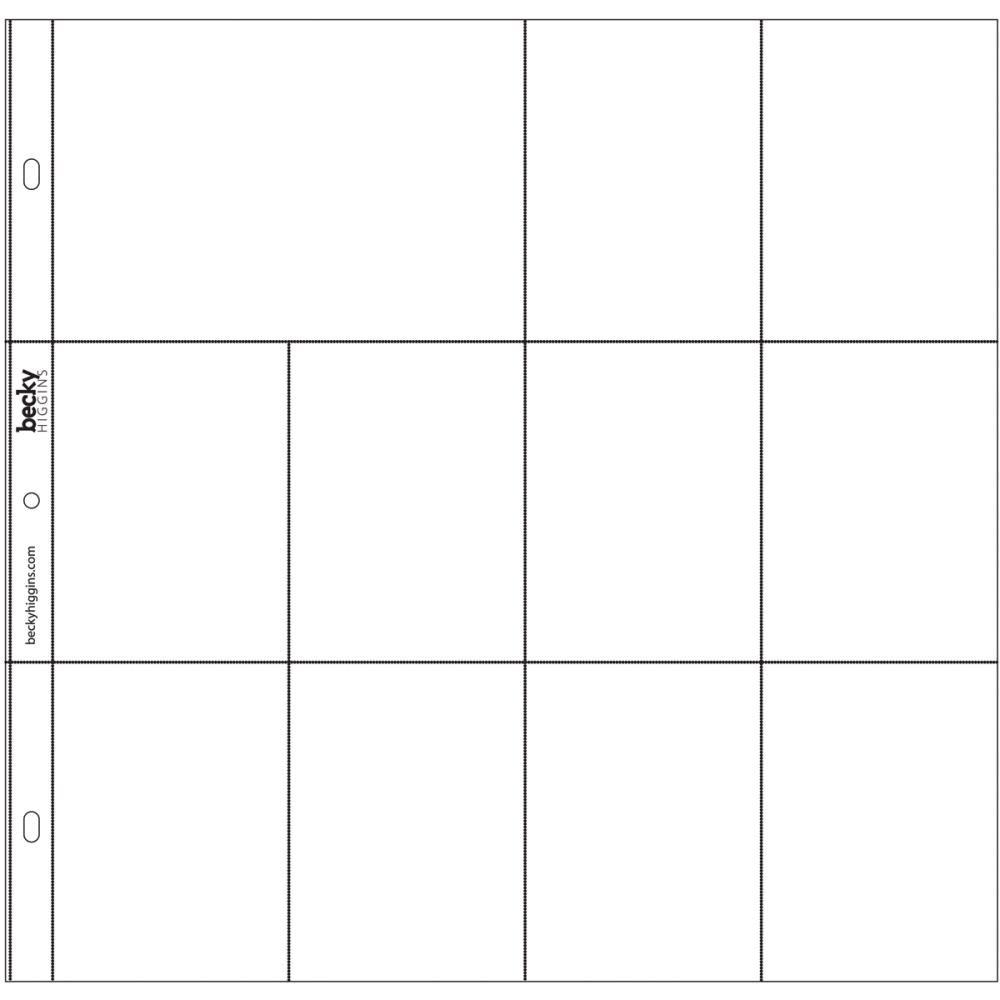 PHOTO POCKET PAGES DESIGN F 12/PKG