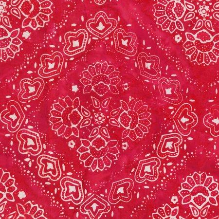 Bandana Batiks - 823Q-X Red
