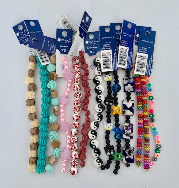 BLUE MOON - BEAD ASSORTMENT - 12 STYLES X 12 EACH