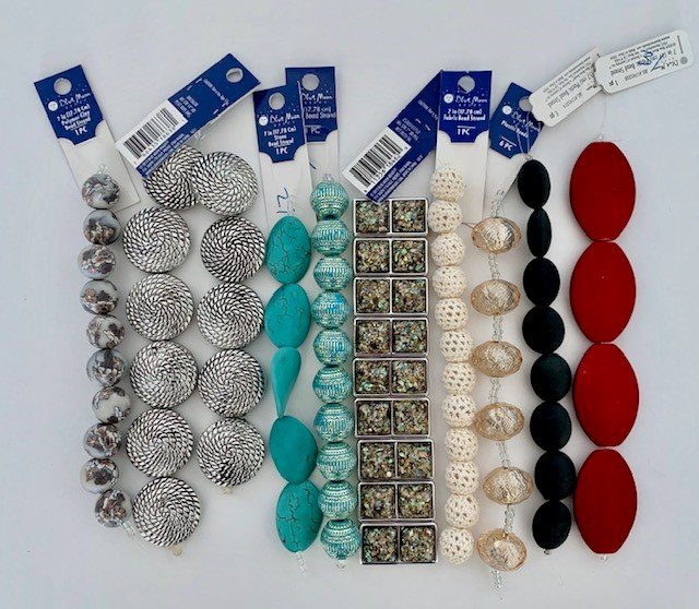 BLUE MOON - BEAD ASSORTMENT - 9 STYLES X 12 EACH