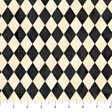 NORT-24122 12 - BLACK CAT CAPERS BY ANDREA TACHIERA CHECKERED BLACK CREAM - ARRIVING IN JULY 2021