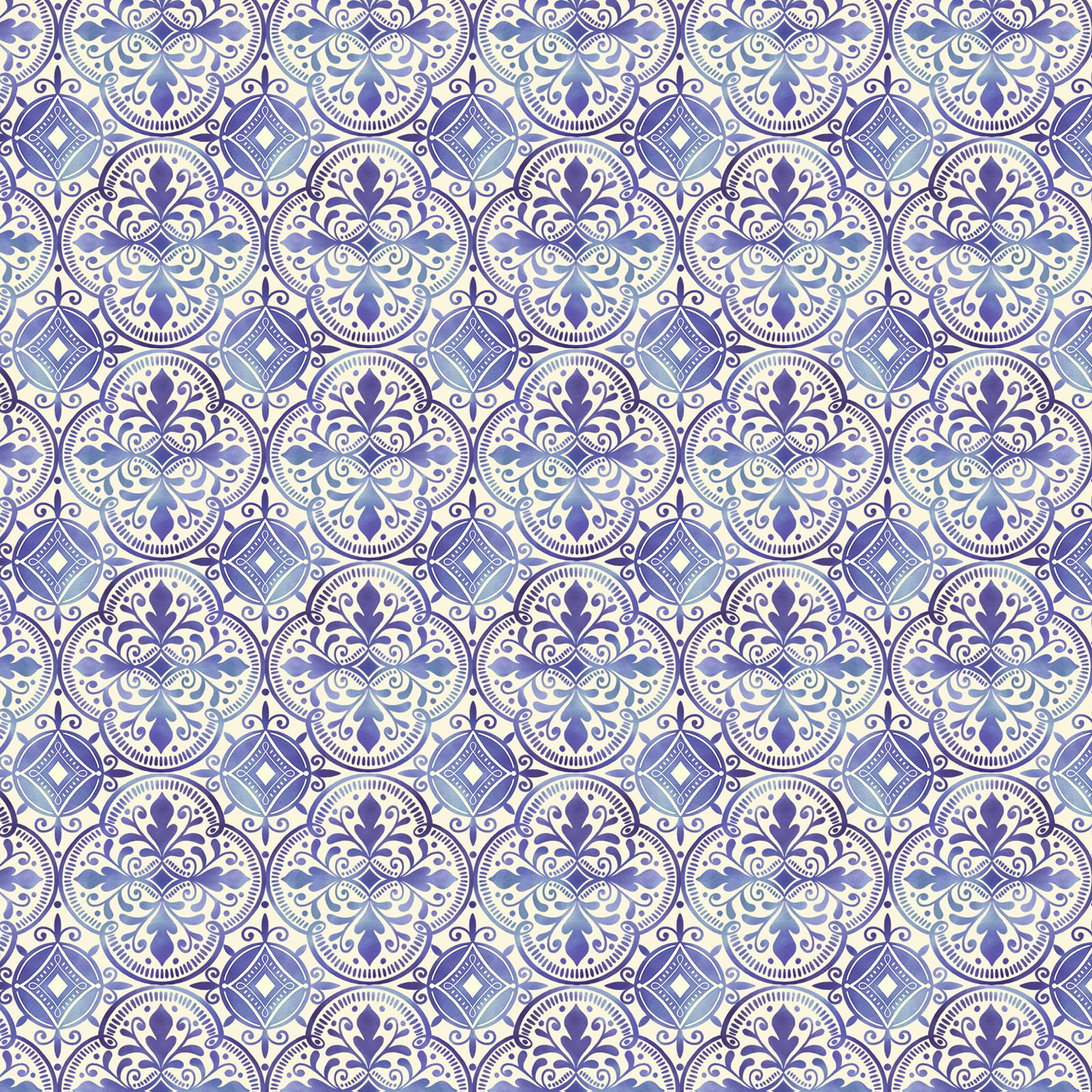 AMBR-4541 B - AMBROSIA BY NATALIE MILES TILES BLUE - ARRIVING IN NOVEMBER 2021