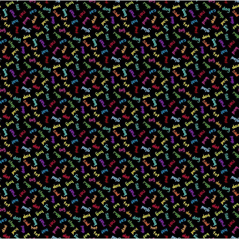 ANDO-8562 K - AND Z BY KIM SCHAEFER WORDS BLACK