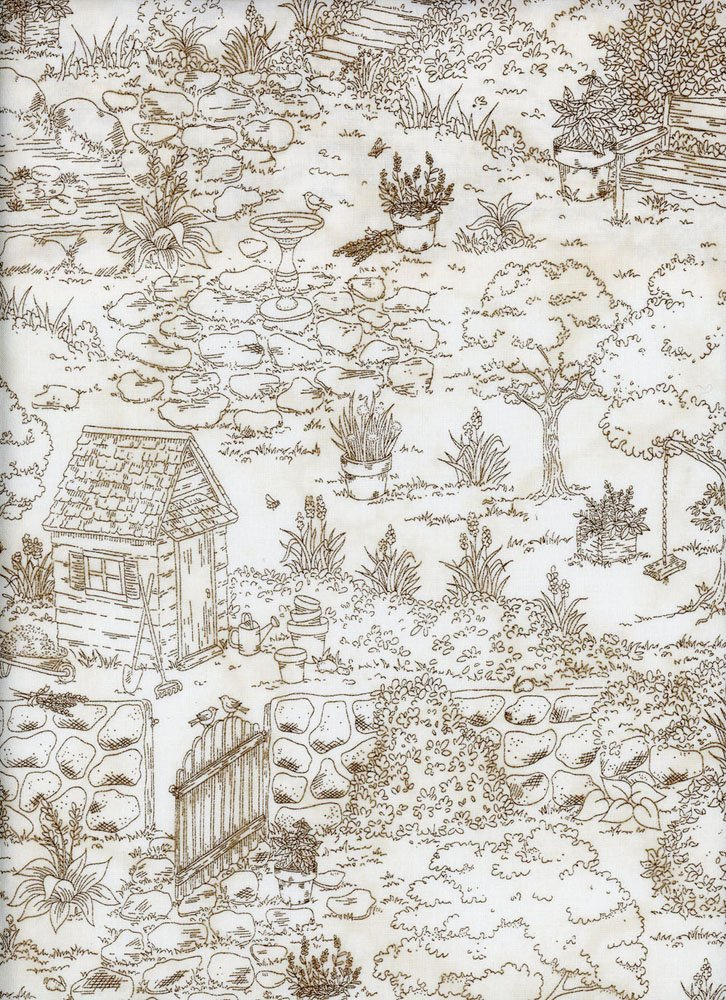 EESC-8330 A - #THYME WITH FRIENDS BY KRIS LAMMERS HERBAL TOILE NATURAL