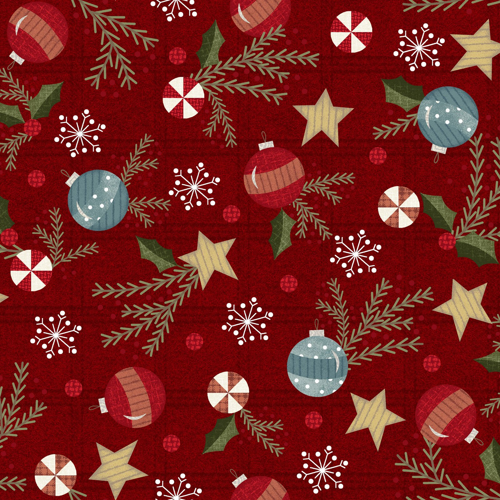 EESC-F9934 R - SNOWDAYS FLANNEL BY BONNIE SULLIVAN TRIMMINGS RED - ARRIVING IN AUGUST 2021