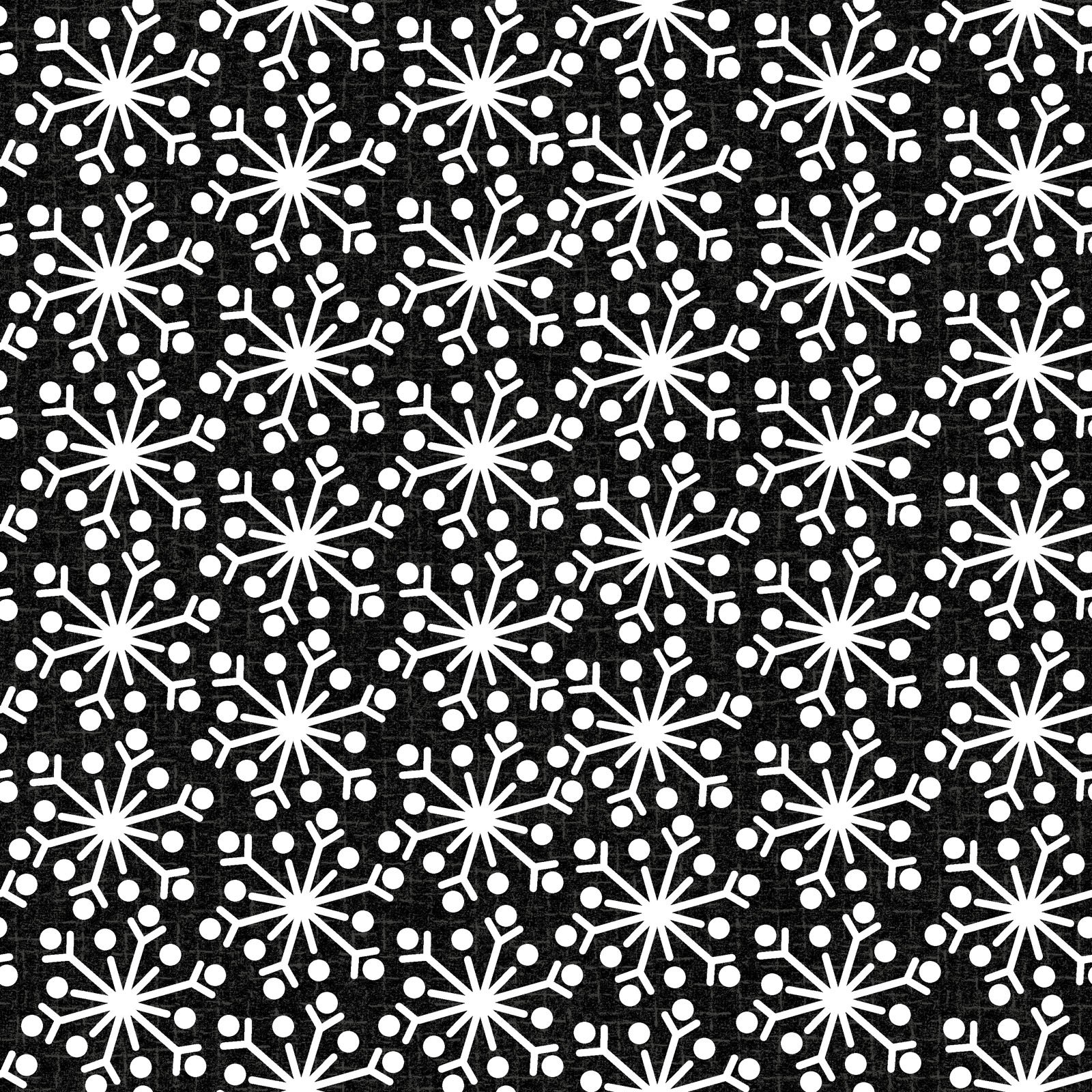 EESC-F9938 JK - SNOWDAYS FLANNEL BY BONNIE SULLIVAN SNOWFLAKE CHARCOAL - ARRIVING IN AUGUST 2021
