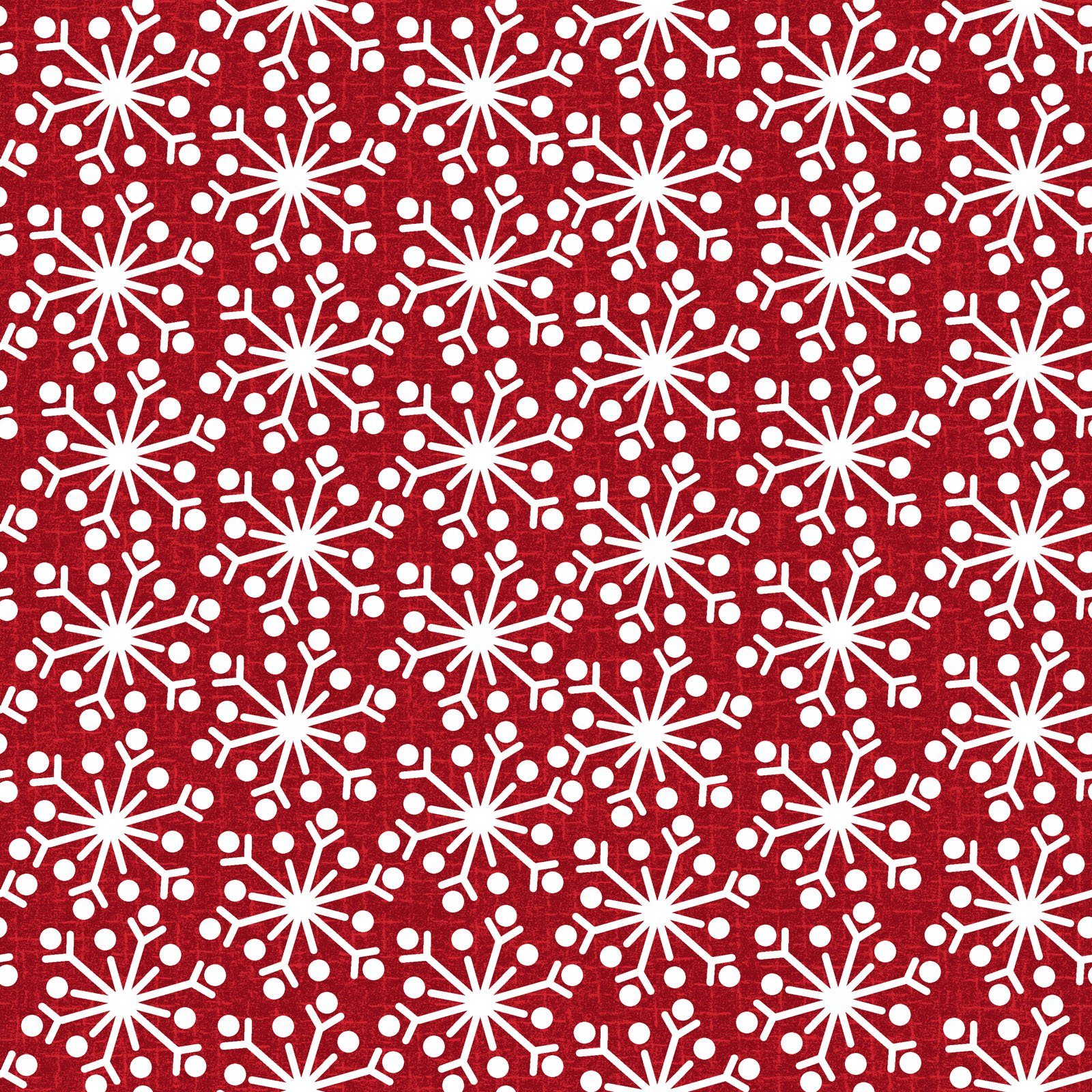 EESC-F9938 R - SNOWDAYS FLANNEL BY BONNIE SULLIVAN SNOWFLAKE RED - ARRIVING IN AUGUST 2021