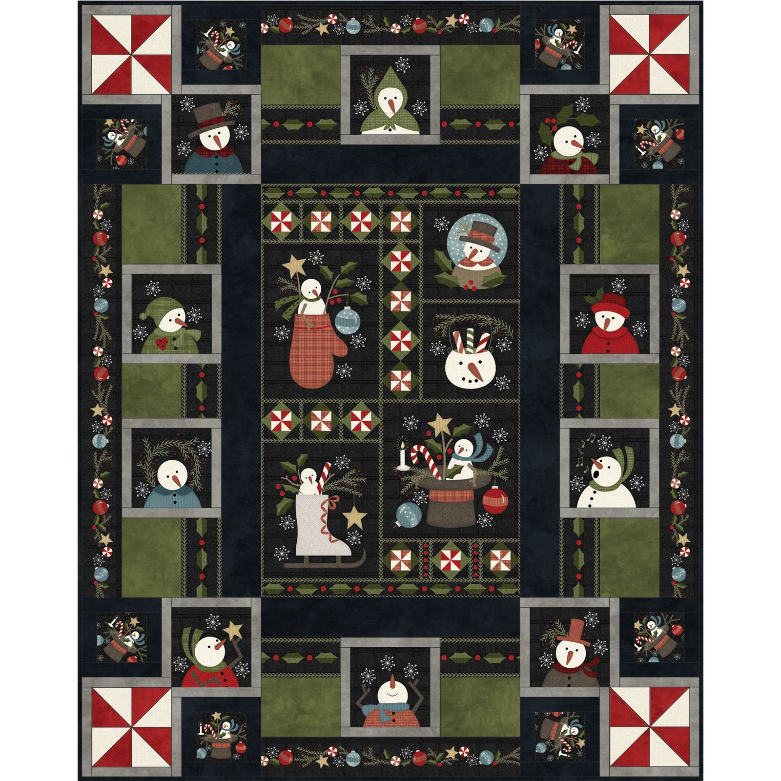 EESC-KITMASSNDF - SNOWDAYS FLANNEL - SNOWDAYS FLANNEL QUILT KIT 63 x 78 - ARRIVING IN AUGUST 2021