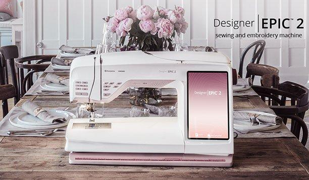 HUSQ-DESIGNEREPIC2 - DESIGNER|EPIC 2 SEWING & EMBROIDERY MACHINE BY HUSQVARNA VIKING