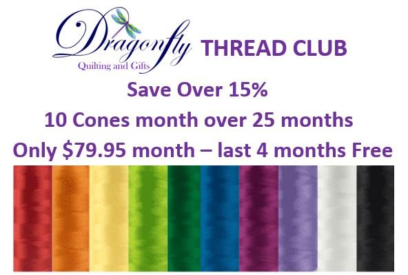 THREAD CLUB POLYFAST & FABULUX 40WT POLY 10 PACK MONTH FOR 25 MONTHS