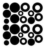 SHAN-LC007 - BUBBLES LASER CUTS BY SHANIA SUNGA 0.5-1/PKG BLACK BATIK