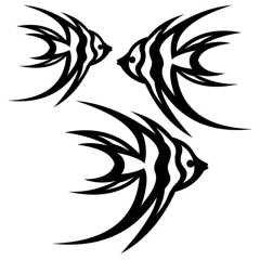 SHAN-LC008 - ANGELFISH LASER CUTS BY SHANIA SUNGA 5&6.5&8/PK BLACK BAT
