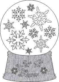 SHAN-LC017 SF - SNOWFLAKE SNOW GLOBE LASER CUT BY SHANIA LET IT SNOW WH/GY