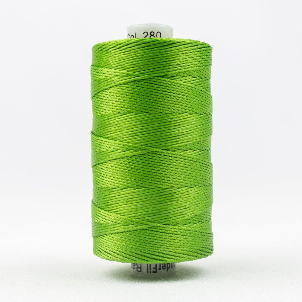 WOND-RZ280 - RAZZLE 8WT/6PLY 100%RAYON THREAD GRASS GREEN