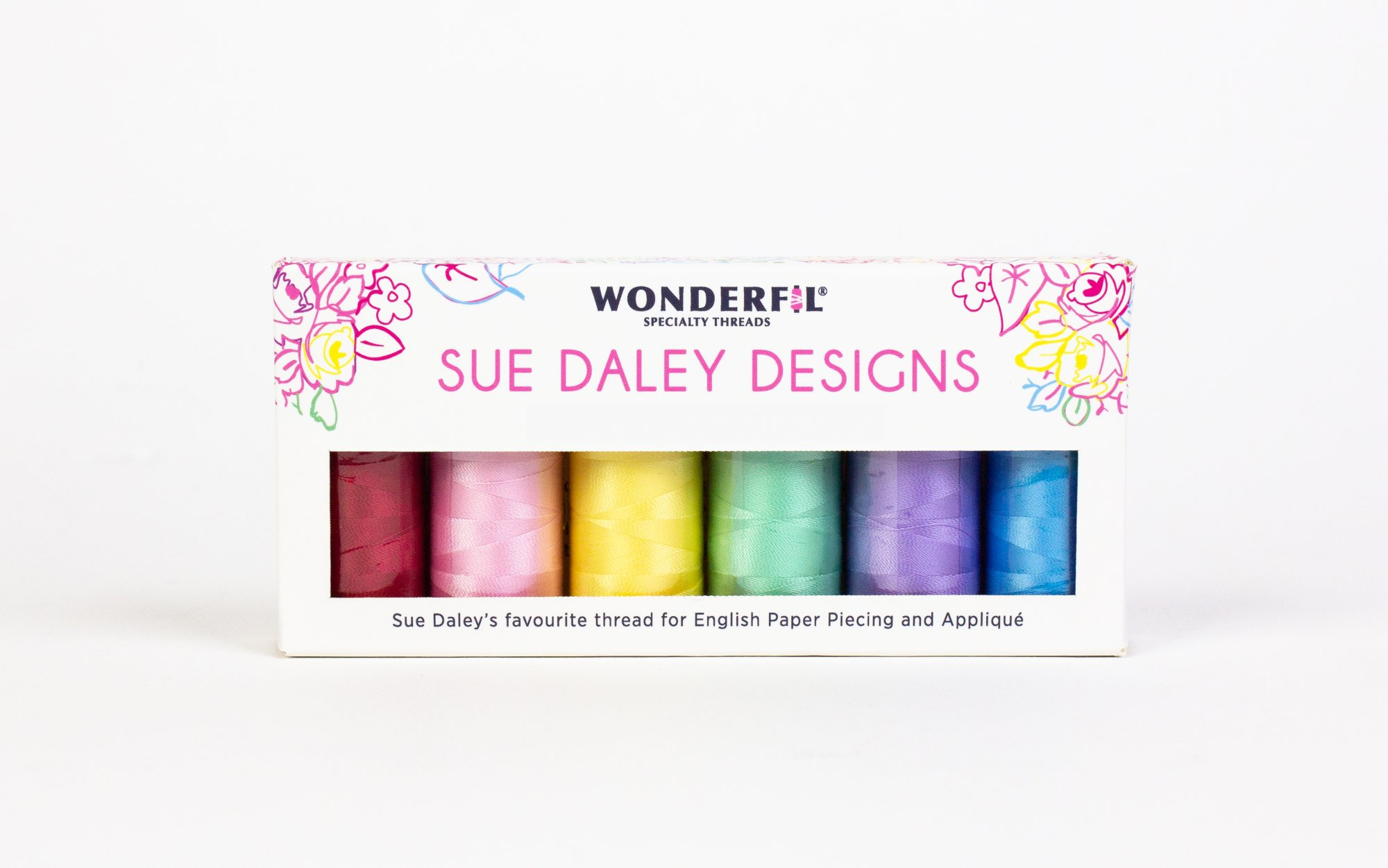 WOND-SDP BRIGHTS - SUE DALEY DECOBOB PACK(6 SPOOLS)80WT COT/POLY SMALL 250M BRIGHTS