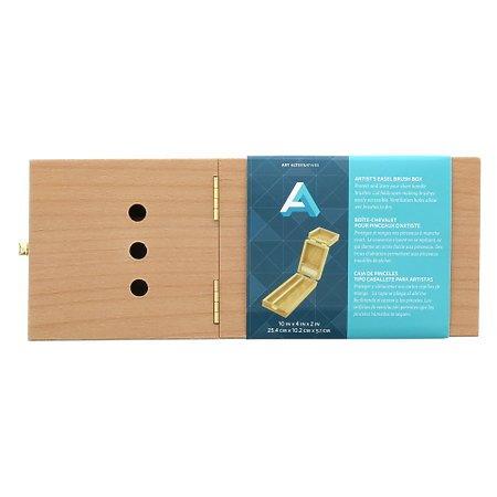 Small Artist Easel Brush Box