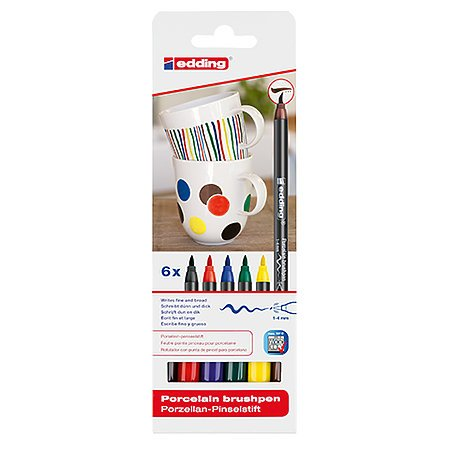 4200 Porcelain Brush Pen 6pc Family Set