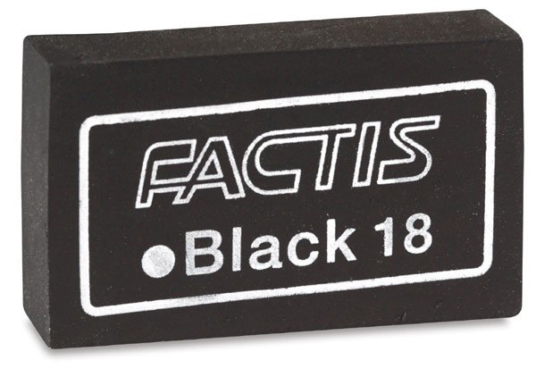 Factis Magic Black Eraser Hex