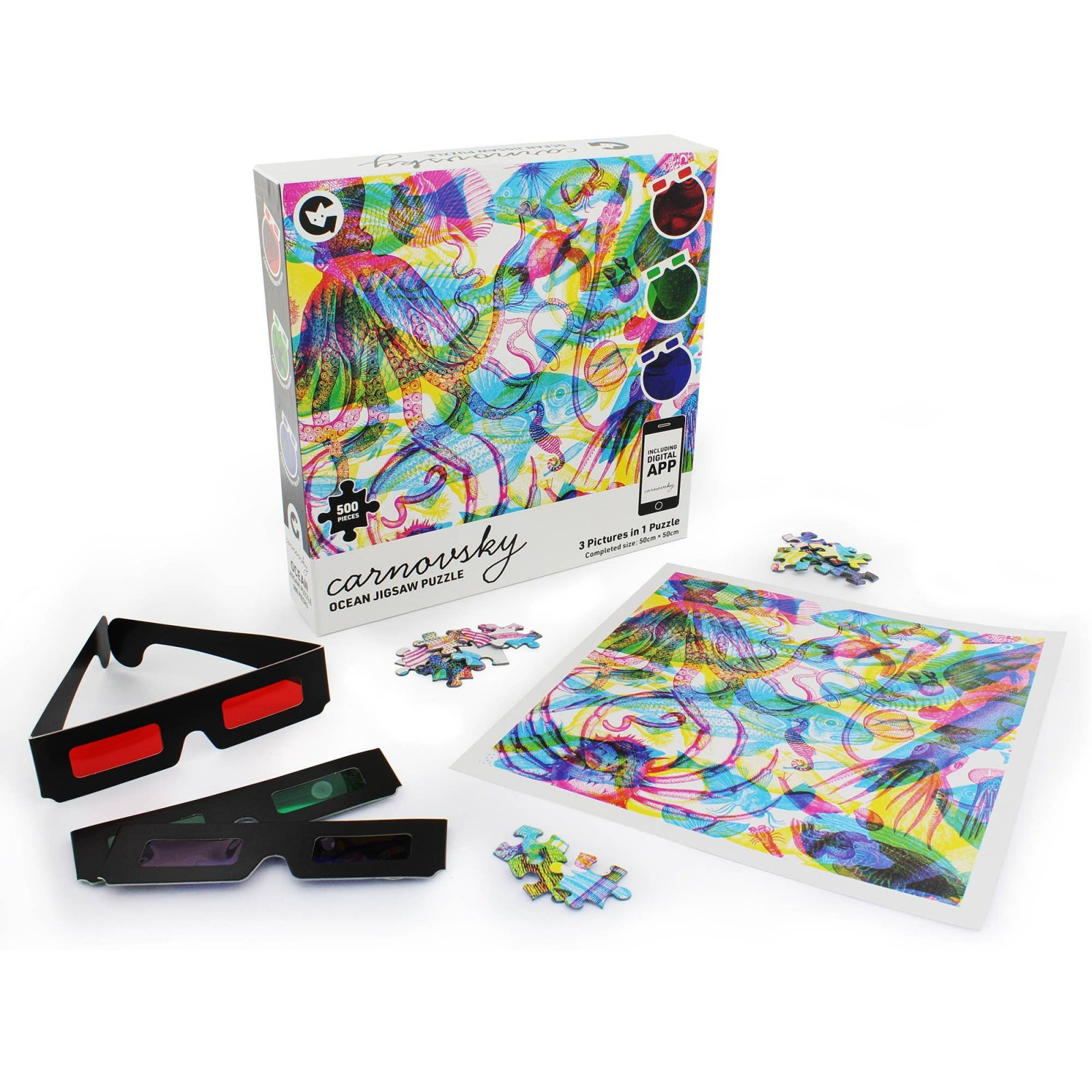 Carnovsky 500 Piece Ocean Puzzle - 3 Pictures in 1