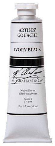 M. Graham Ivory Black Gouache 60ml