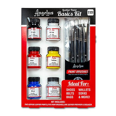 Acrylic Leather Paint 1 oz. Basics Kit